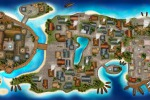 Остров, карта.Среднивековье.