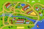 Детский коврик-железная дорога