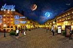 Иллюстрация для сайта.Ночной город.