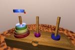 """3D головоломка """"Ханойские башни"""""""