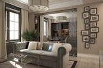 Дизайн гостиной-кухни в стиле арт деко