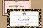Приглашение на свадьбу в стиле art-deco