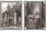 Иллюстрации для одной из фентезийных игр  (замок и засада)