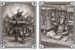 Иллюстрации для одной из фентези игр (Дэзкнайты и алхимик)