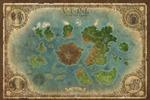 Карта игрового мира для одной из фентезийных игр