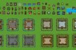 Пиксель арт графика к одной из фентезийных игр (объекты,замки)