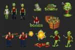 Персонажи и иконки для игры,вектор
