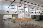 Разработка схемы расстановки и оформление магазина 1000м2.
