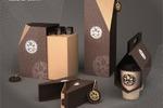 Серия упаковки для кофе и элементов бренда