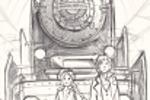 Восточный экспресс карандашный рисунок