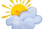 солнышко за облаком
