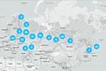 Стилизованная карта с локализацией.