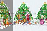 Сани Деда Мороза--Елка-- Новогодняя упаковка 2013г.