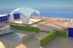 Визуализация площадки для отдыха Крым