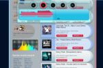 Музыкальный сайт с визуализацией web audio api