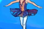 Девочка - ученица балетной школы на сцене