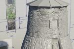 Модель башни-корпуса флэшки для 3Д печати