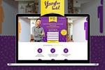 Дизайн LP для сети хостелов YoungFree