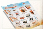 Дизайн листовки А5 для службы доставки суши