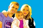 семья поп арт