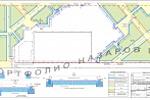 План расстановки бортовых камней, конструкции верхнего паркинга