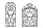 Калитка и вставка в забор (Kovka3D)