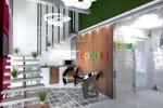 разработка дизайна интерьера холла частного офиса на Буаманской