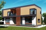 Дизайн фасада загородного дома 3