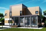 Дизайн фасада загородного дома 4