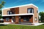 Дизайн фасада загородного дома 5