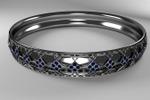 Кольцо для 3D печати с камнями