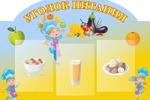 Стенд для детского сада_уголок питания