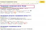 ТОП 1 по запросу Оптимизация продвижение сайтов