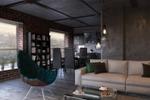 Интерьер гостиной+кухня