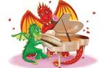 Иллюстрация с драконами