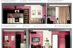 Развертки по стенам 3d-визуализация. Кухн-гостиная