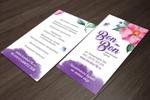Разработка дизайна визитки для букетной кухни Бон-Бон