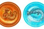 Два дракона стихий ( графика для настольной игры)