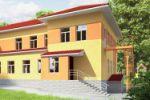 3D визуализация детского сада (2 ракурса)