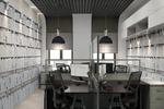 Офис в современном стиле с элементами лофт