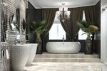 Дизайн ванной комнаты в стиле арт деко