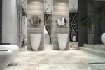Дизайн ванной комнаты в стиле арт деко из проекта загородного до