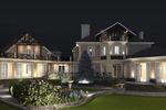 3д визуализация загородного дома и ландшафтного дизайна
