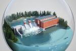 Гидроэлектростанция инфографика