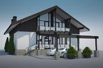 Визализация концепта дома в стиле фахверк
