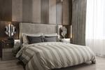 3d визуализация спальни в современном стиле