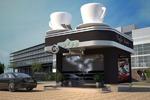 3д визуализация концепт кофе драйв