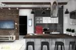 Дизайн проект кухни-гостиной в 3х-к кв.г.Новосибирск