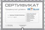 Сертификат продвинутого уровня SEO от Sbup.com