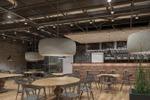 Визуализация интерьера кафе-бара лофт 2